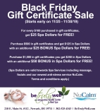 Black Friday Gift Certificate Sale
