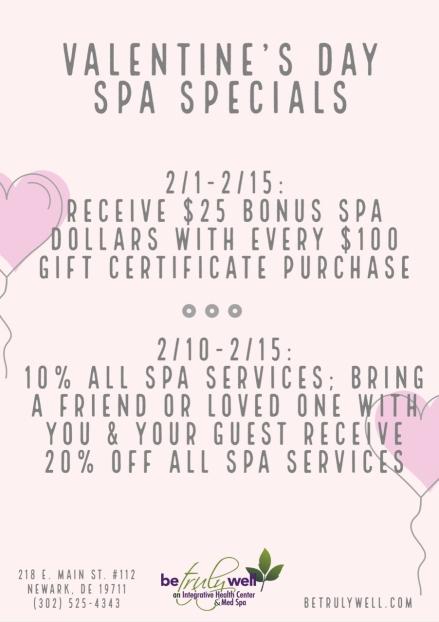 VDAY 2020 Spa Specials